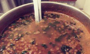 Homemade Indian Tomato Vegan Lentil Soup