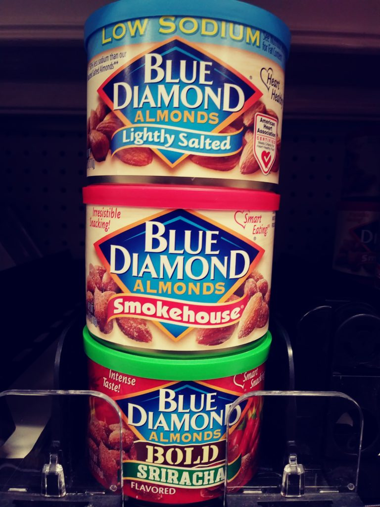 Blue Diamond Almonds, three assorted canisters