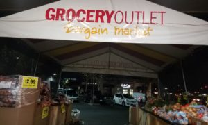 Grocery Outlet outside produce canopy sign