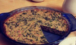 homemade tofu spinach quiche