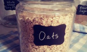 Oats in canister