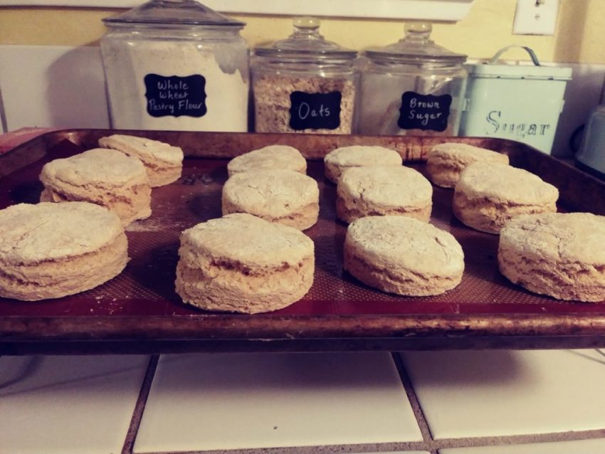 homemmade vegan buttermilk biscuits