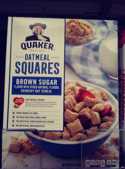 Quaker Oatmeal Squares cereal