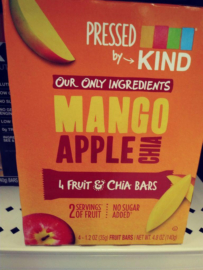 Kind mango apple chia bars