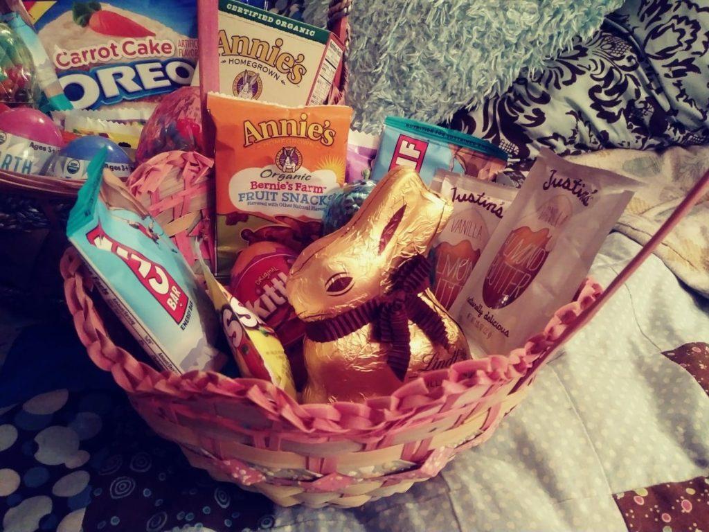 Filled Vegan Easter Basket