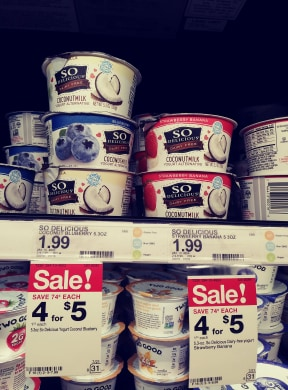 So delicious Yogurt Cup with sale sign 4 for $5