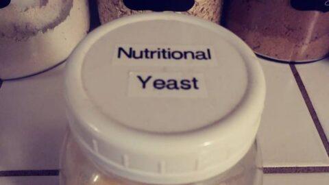 nutritional yeast in mason jar
