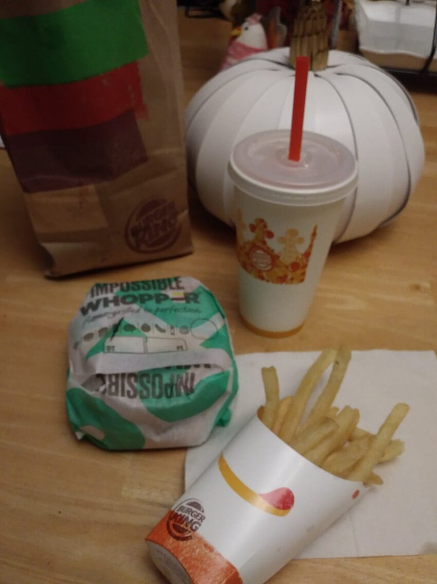 Burger King Impossible Burger Meal