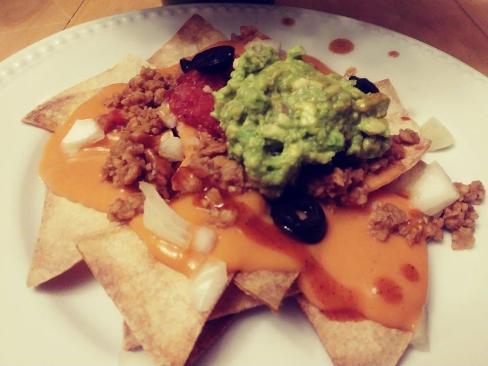 Homemade vegan nachos