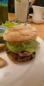 gardenburger slider close-up