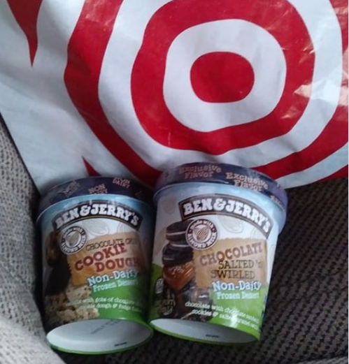 Ben & Jerry's Non-Dairy Ice Cream with Target Bag