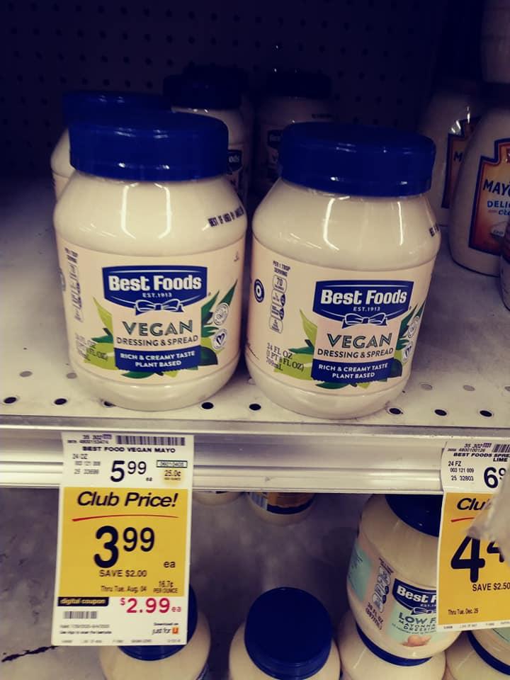 Best Foods Vegan Mayo Jars
