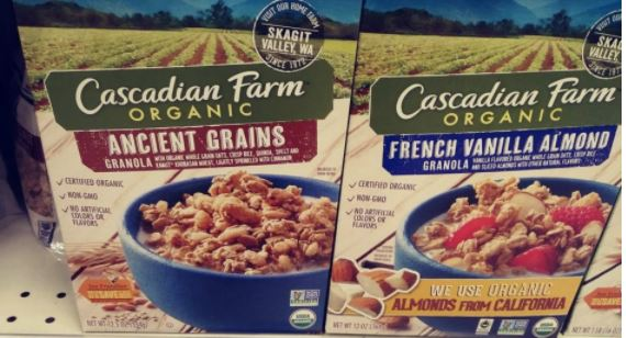 Cascadian Farms Cereal Boxes