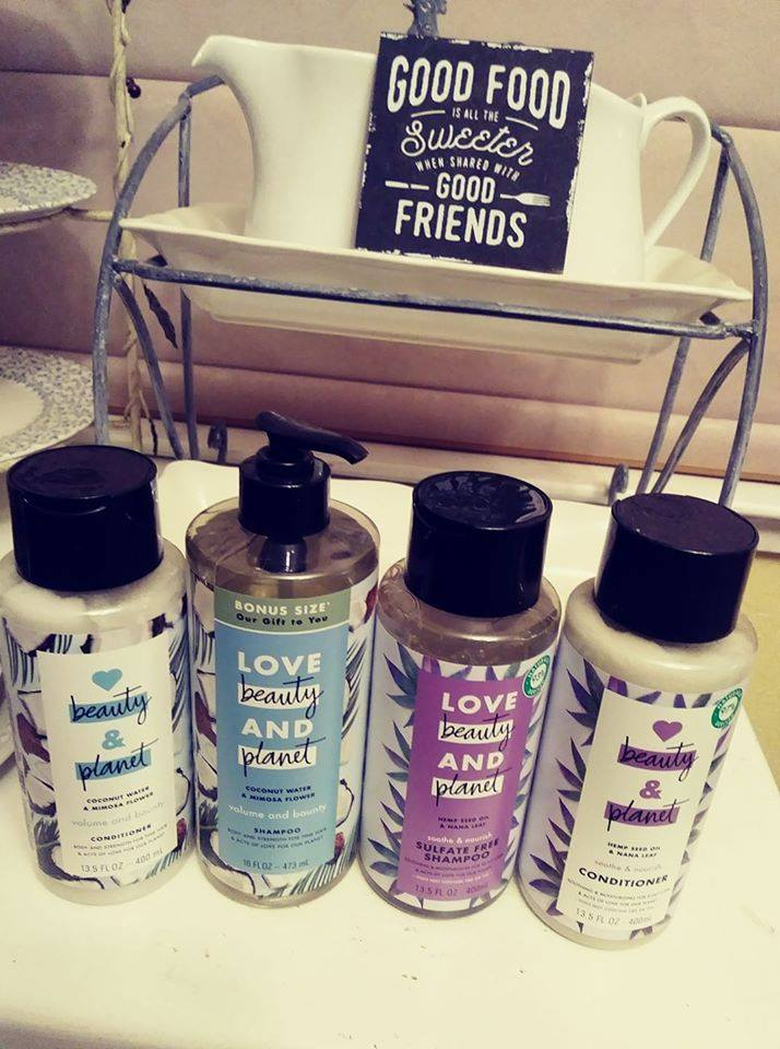 Love, Beauty and Planet shampoo and conditioners