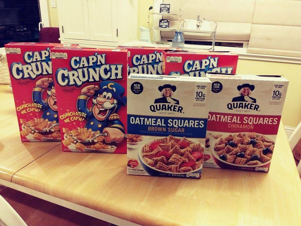 This image has an empty alt attribute; its file name is Quaker-Cereal-Boxes.jpg