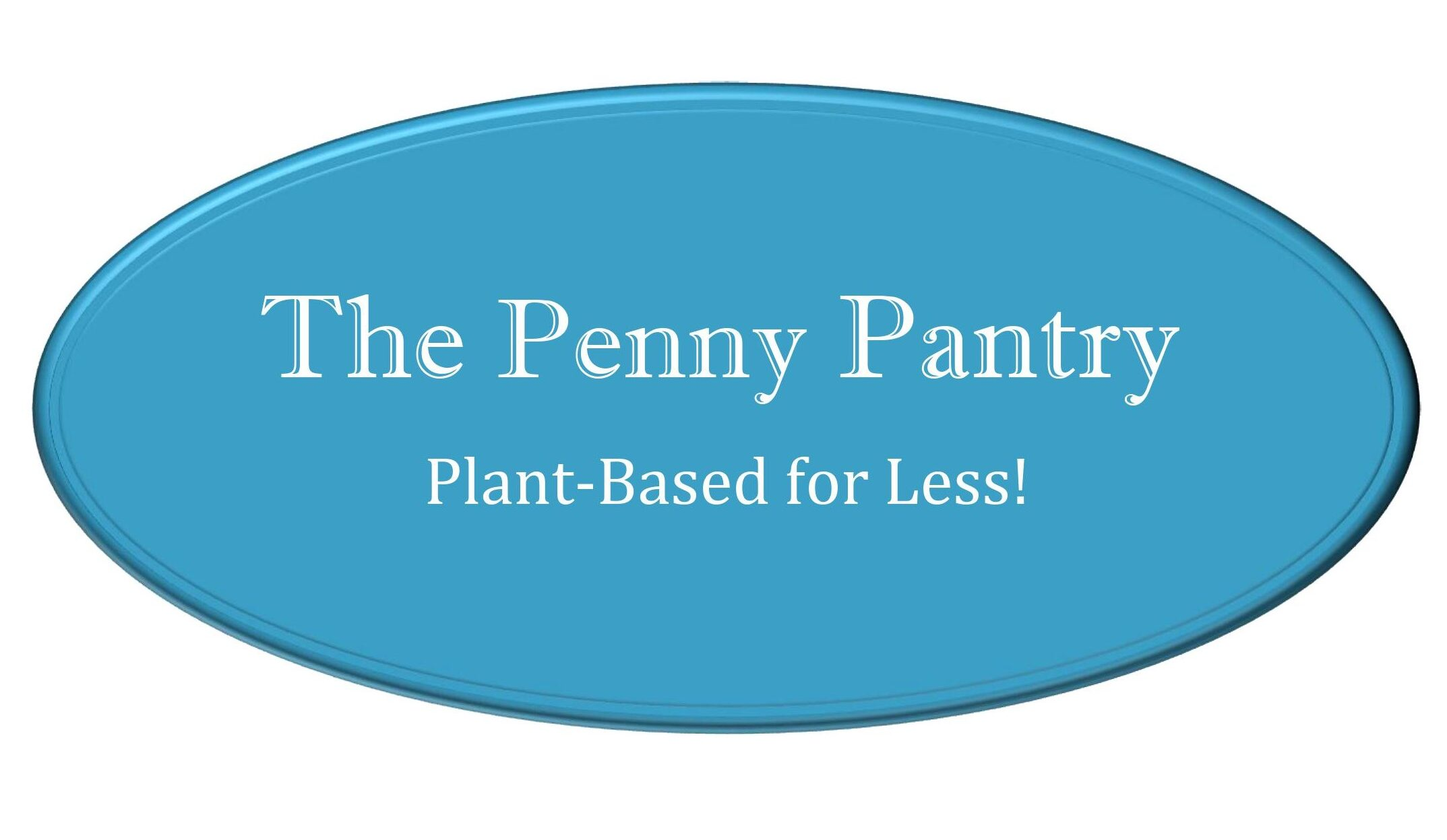 the penny pantry logo, also says plant based for less
