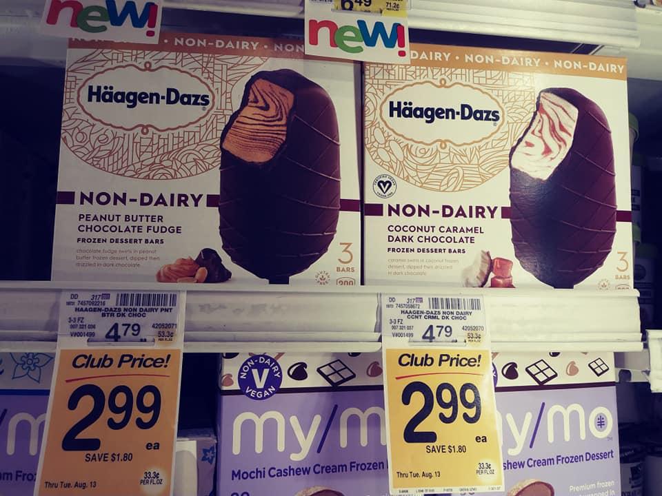 Haagen Dazs Dairy-Free Ice Cream Bars