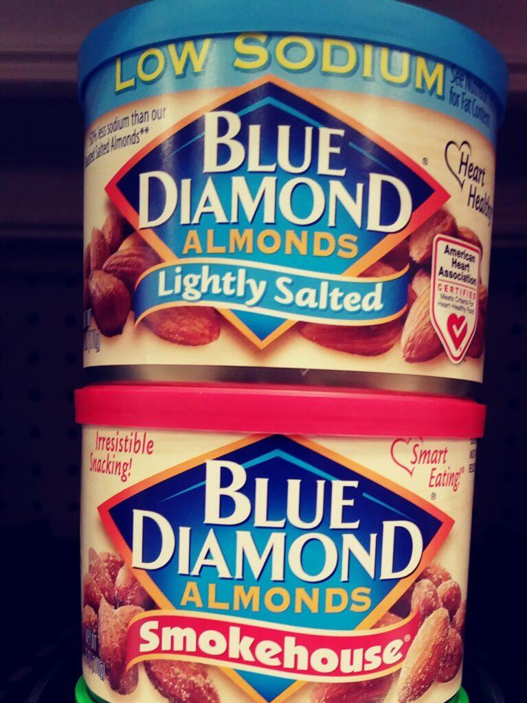 Blue Diamond Almond Canisters