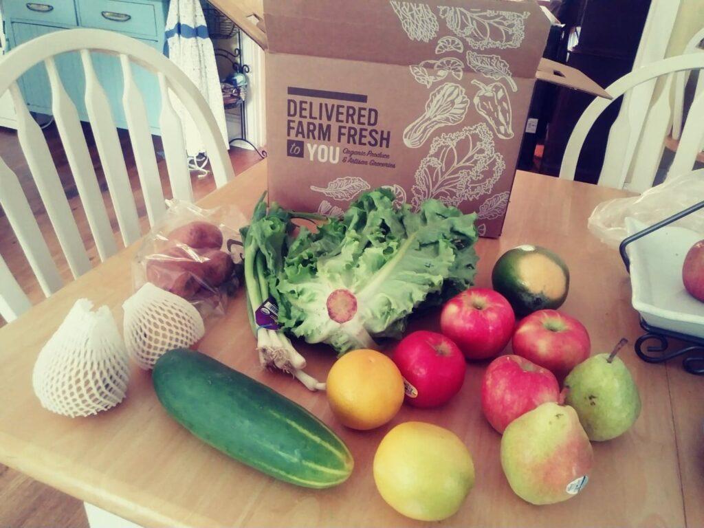 the Farm Fresh to You Box I got recently