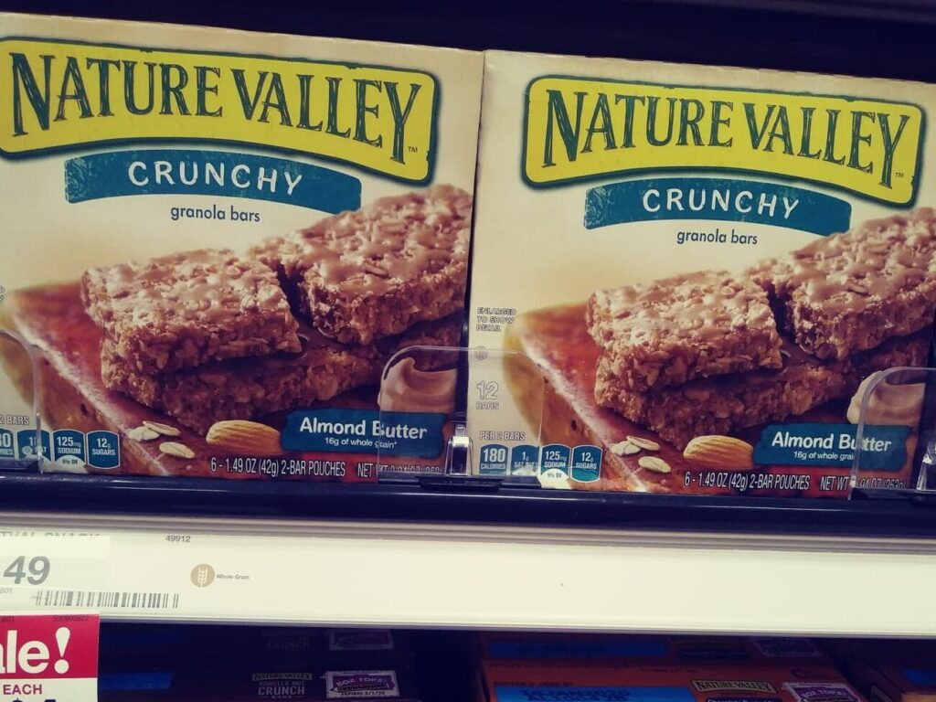 Nature Valley Bars almond butter