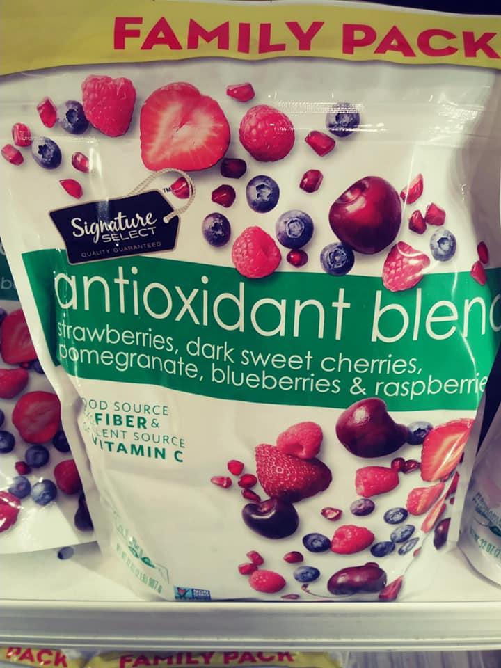 Frozen antioxidant blend berries at Safeway