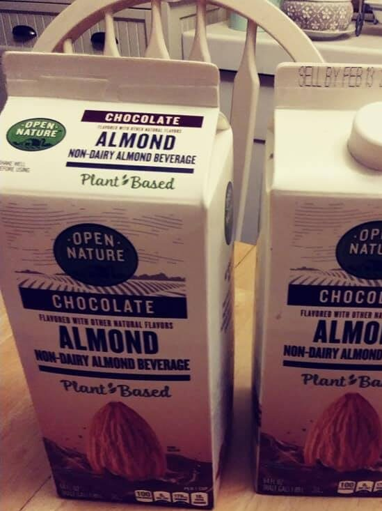 Open Nature almond milk chocolate