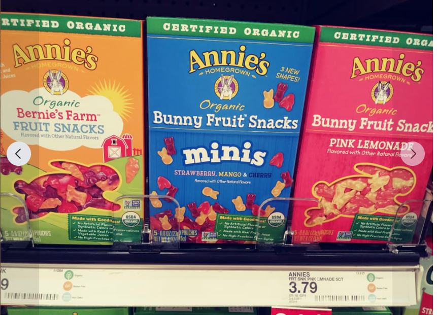 Annie's fruit snacks, assorted boxes