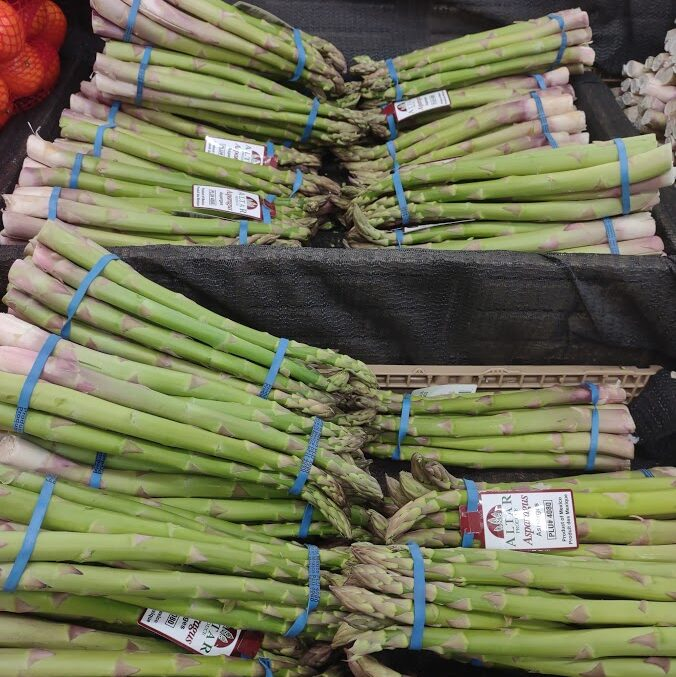 Closeup of Asparagus Bundles