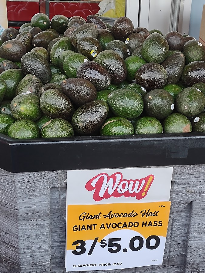 Avocados at Grocery Outlet
