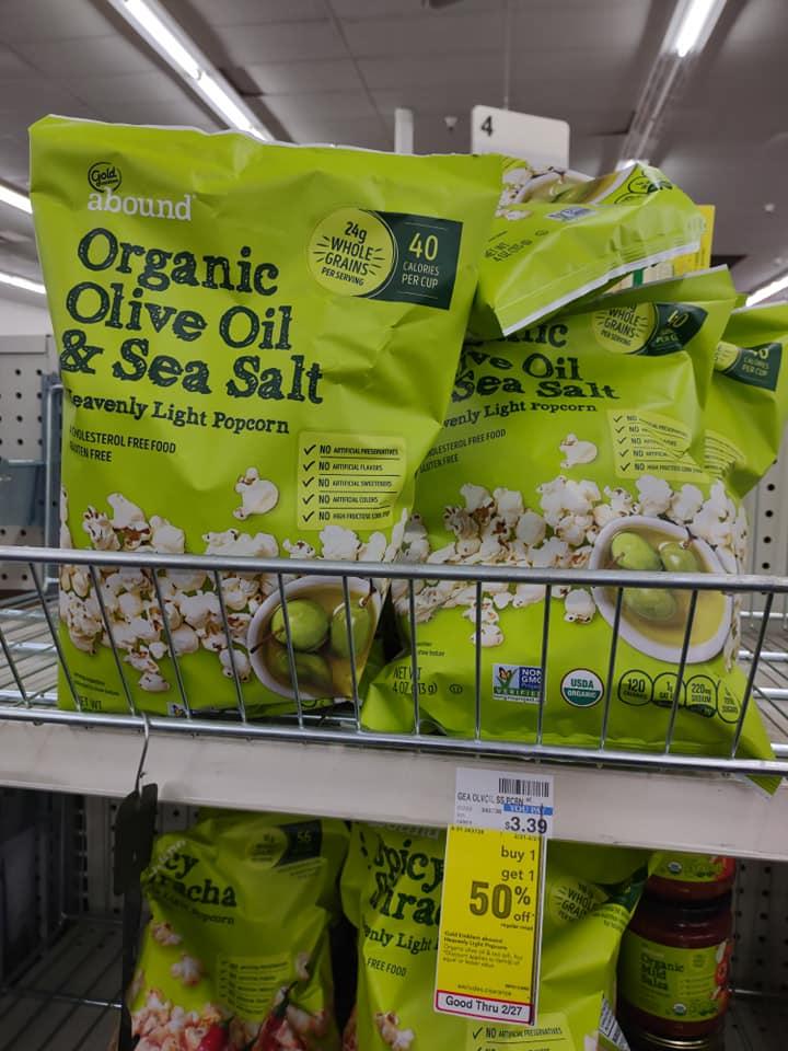 CVS BOGO 50% off Popcorn