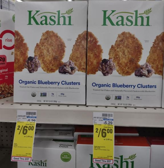 Kashi Cereal Organic Blueberry Clusters