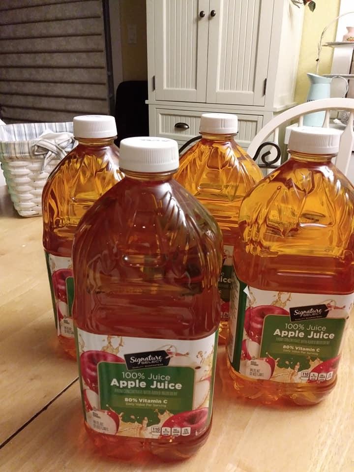 Safeway Select Brand Apple Juice Bottles