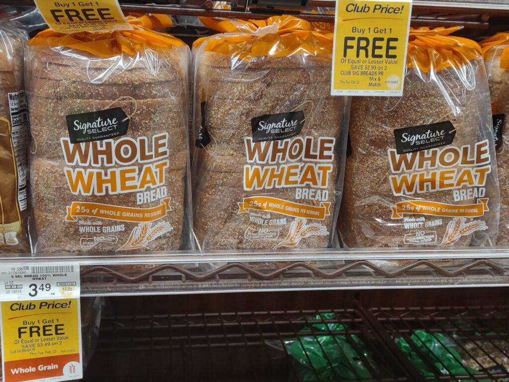 Safeway Sandwich Bread Whole Wheat