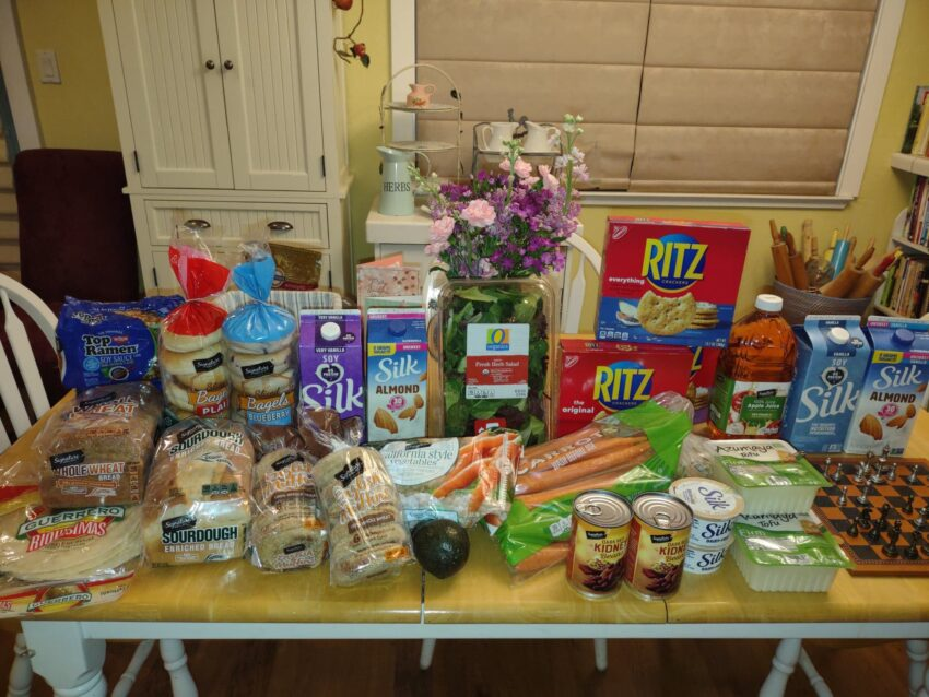 Safeway Shoppig Trip, picture on my dining table