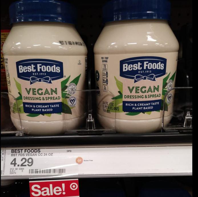 Best Foods vegan mayo