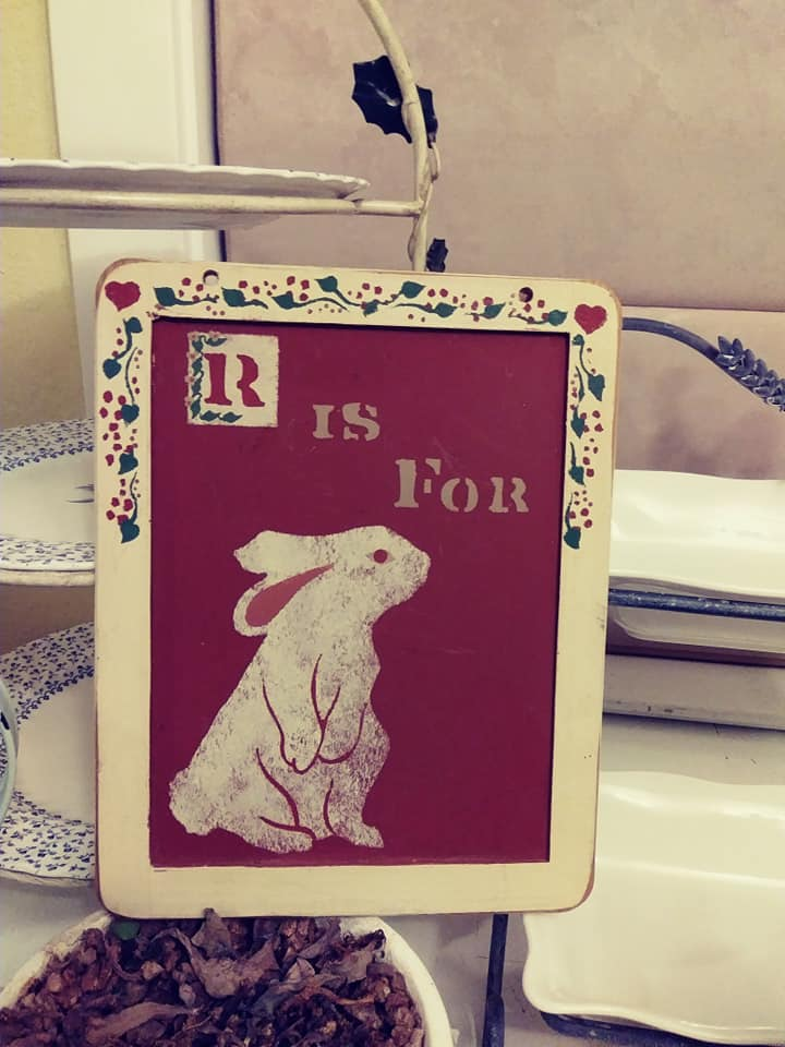 Easter R is for Rabbit sign