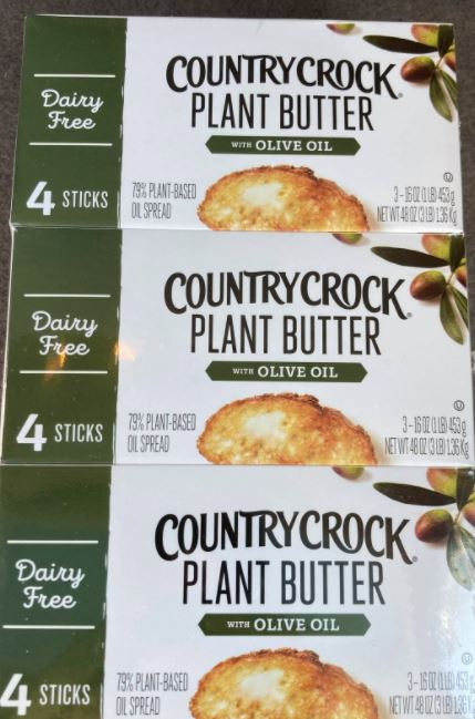 3 packs of  Country Crock plant-based olive oil butter