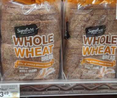 Safeway whole wheat bread loaves