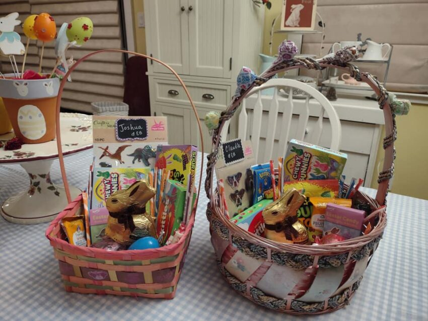 Vegan Easter baskets