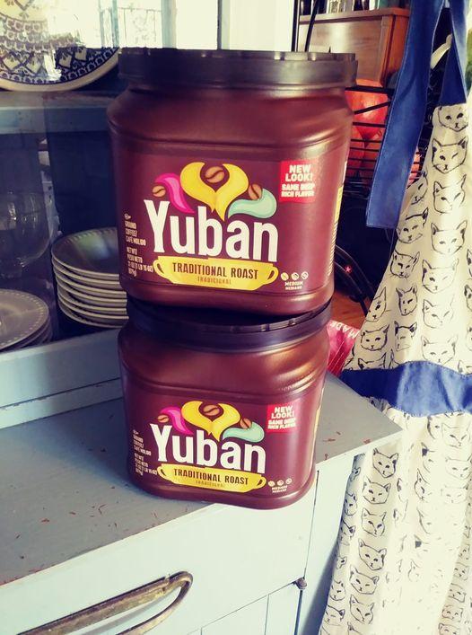 Yuban Coffee PlasticTubs