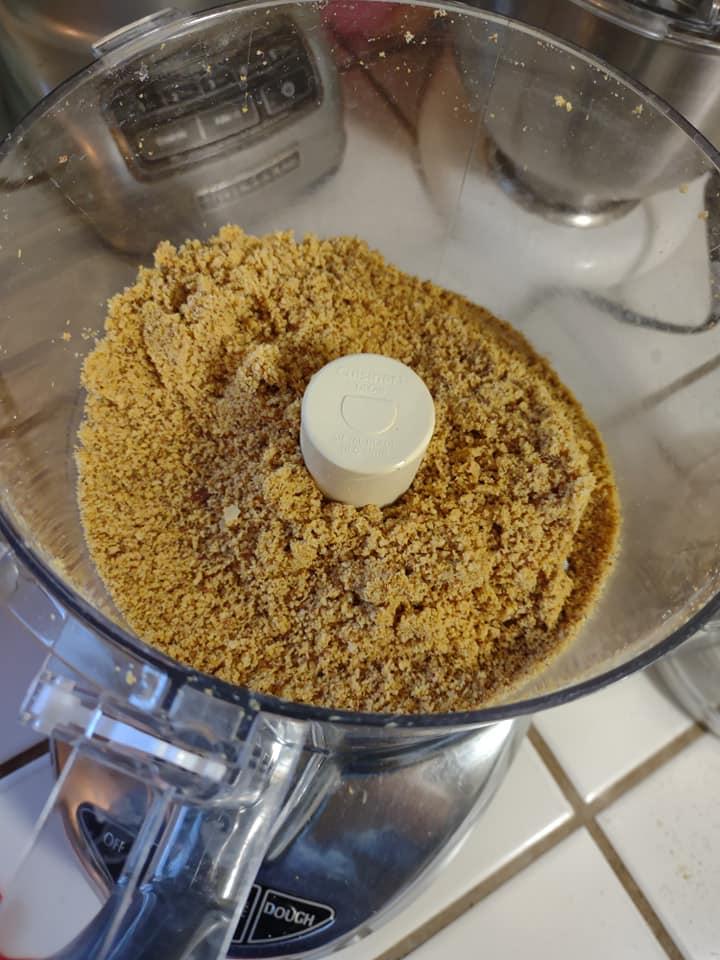 Almond parmesan in food processor