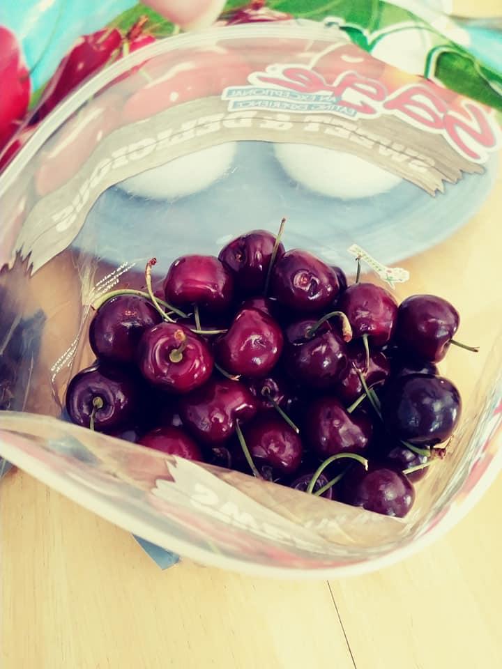 Cherries in bag