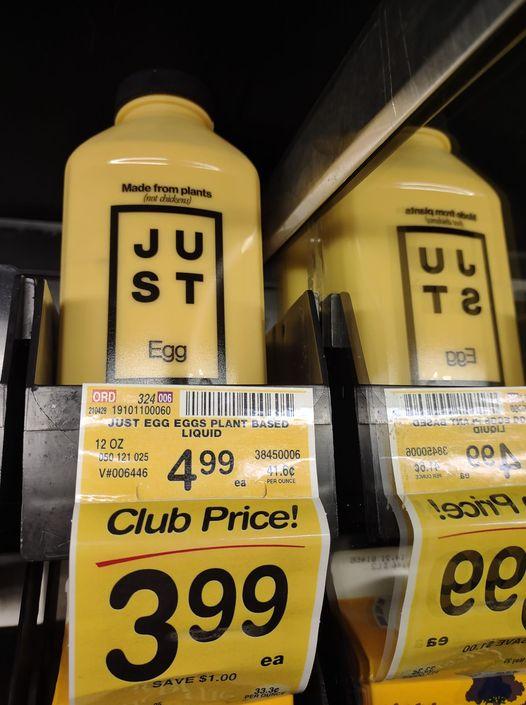 Just Egg bottles at Safeway $3.99