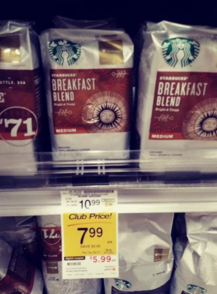 Starbucks coffee bags breakfast blend