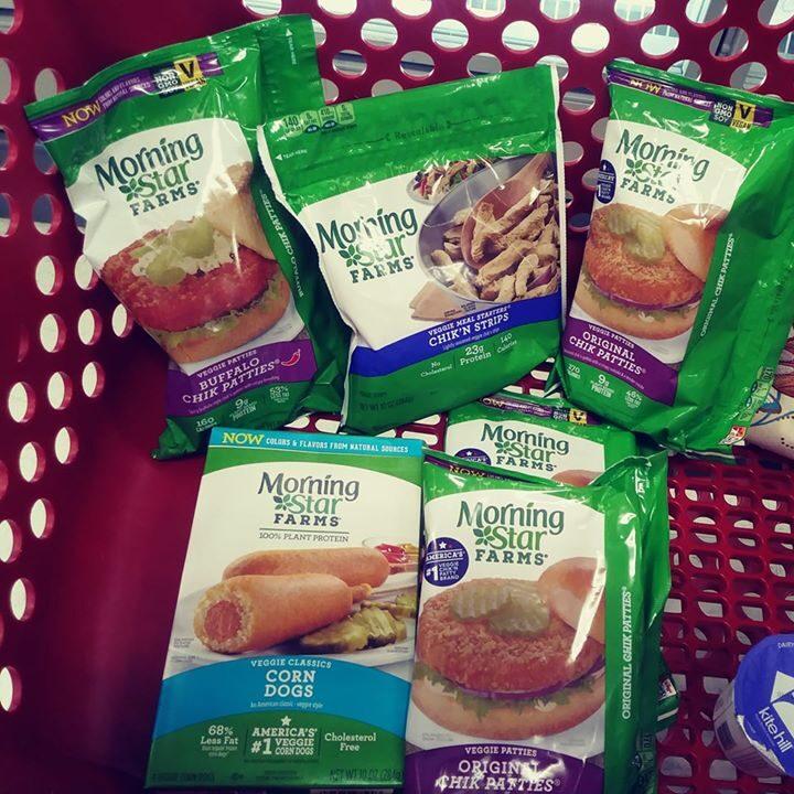 Morningstar Farm items, assorted in Target cart