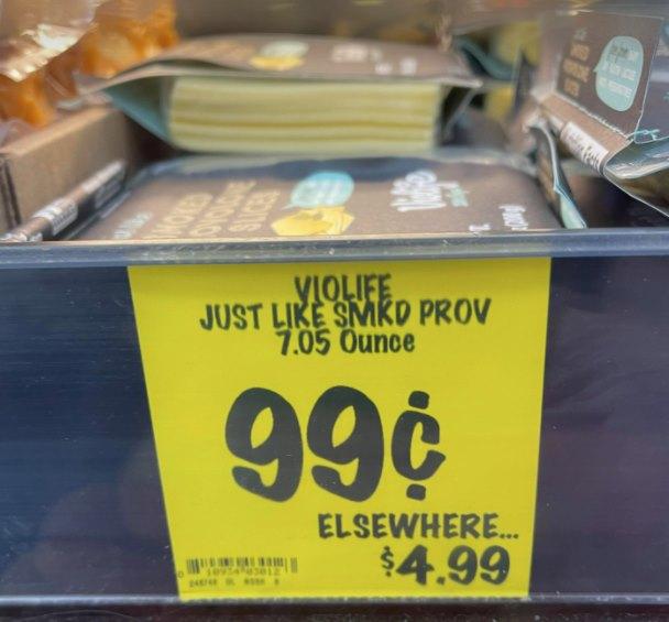 Violife Slices provolone $.99