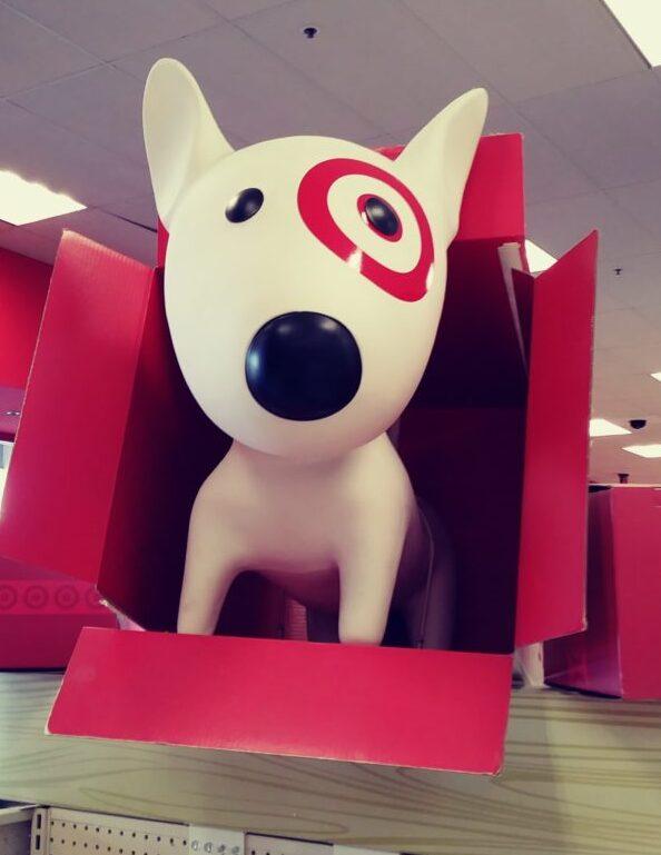 Target Dog in box display