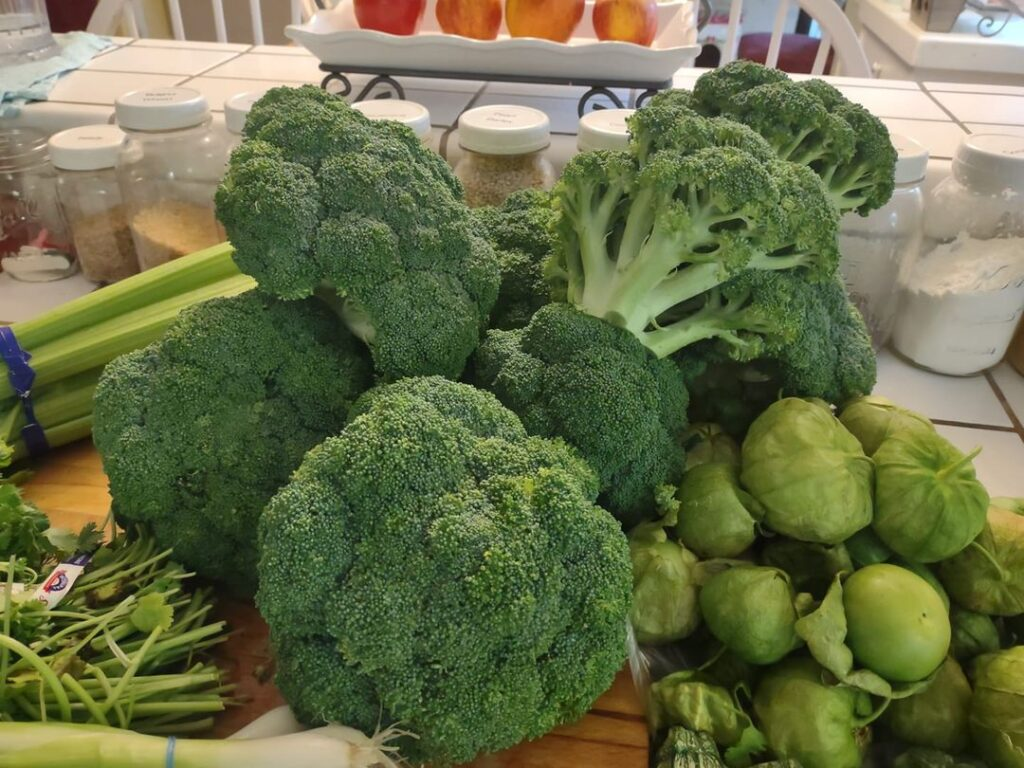 bunches of broccoli