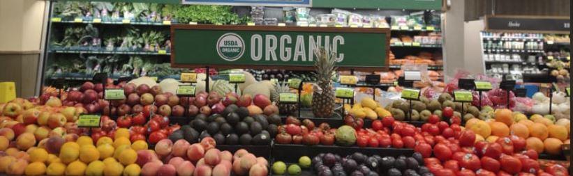 Organic produce section atSafeway
