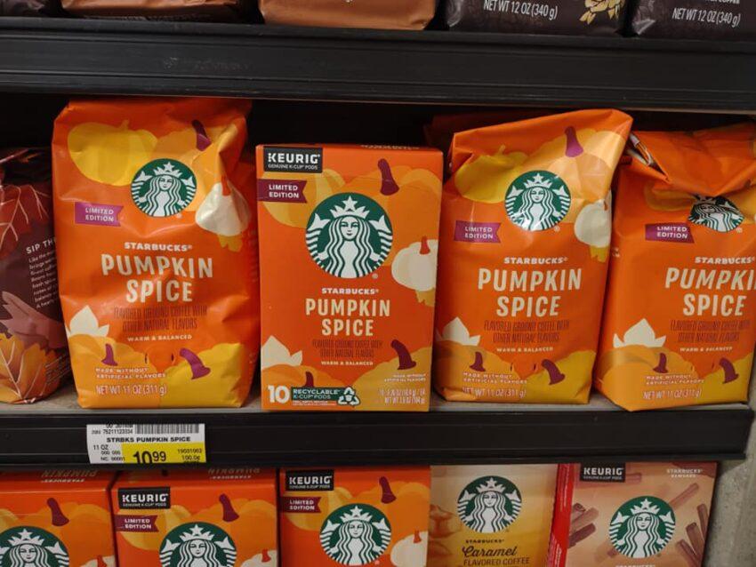 Starbucks pumpkin spice coffee bags